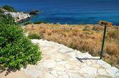 Trap naar strand — Stockfoto