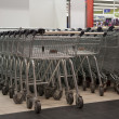 Carts in supermarket — Stock Photo