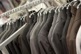 Suit department in boutique — Stock Photo