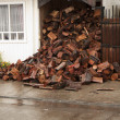 Heap of firewood — Foto Stock