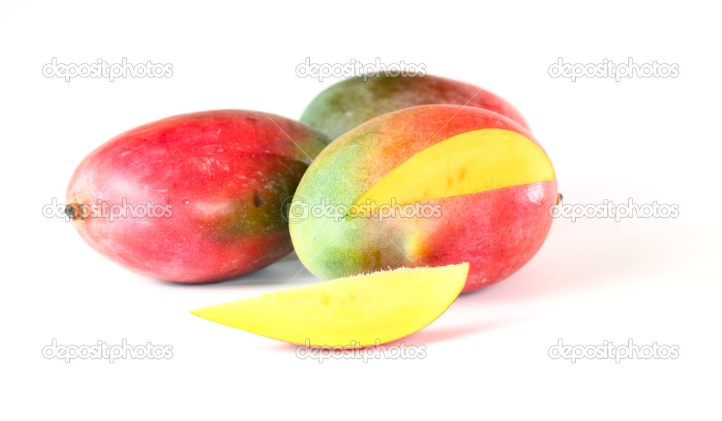 Mango on a white background. — Stock Photo #4563403