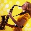 Royalty-Free Stock Photo: Saxophonist
