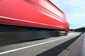Lorry on a highway — Stock Photo