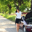 Girl with car — Stock Photo #4849008