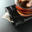 Whisky and money - Stock Photo