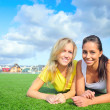 Girlfriends after training — Stock Photo #5212962