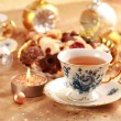 Tea for Christmas with sweet cookies - Lizenzfreies Foto