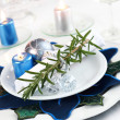 Place setting for Christmas — Stock Photo