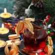 Hot drink for winter and Christmas — Stock Photo