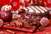 Sweet chocolate for Christmas — Stock Photo