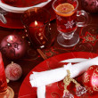 Place setting for Christmas - Foto de Stock