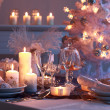 Place setting for Christmas — Stok fotoğraf #4299506