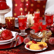Place setting for Christmas — Stock Photo #4325375