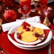 Place setting for Christmas — Stock Photo #4325384