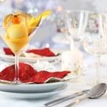 Mango sorbet for Christmas — Stock Photo
