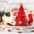 Table setting for Christmas — Stockfoto #4330205