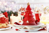 Table setting for Christmas — ストック写真
