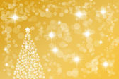 Golden abstract Christmas background — Stock Photo