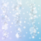Winter lights background — Stock Photo