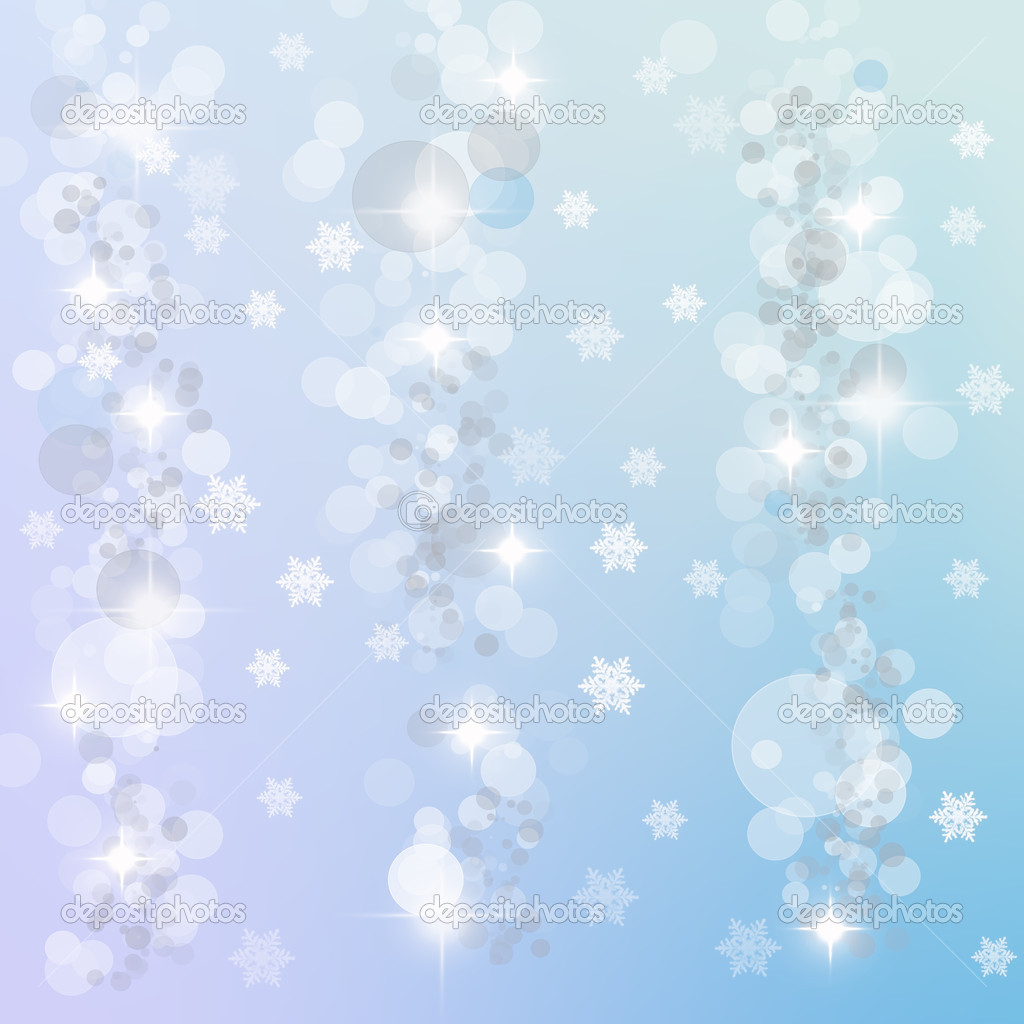 Abstract background of candlelights with snowflakes for winter and Christmas  Stock Photo #4383353