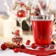 Stock Photo: Hot wine cranberry punch