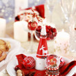 Table setting for Christmas — Stock Photo #4405616