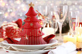 Table setting for Christmas — Foto de Stock