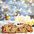 Christmas stollen — Stock Photo #4448722