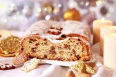 Christmas stollen — Stok fotoğraf