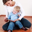 Reading with mom — Stock Photo #4523387