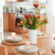 Kitchen and dining room interior - Stock Photo