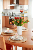 Kitchen and dining room interior — Stock Photo