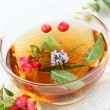 Vitality cranberry tea — Stock Photo