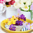 Easter place setting — ストック写真
