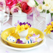 Easter place setting — Stock fotografie