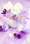 春天餐桌装饰 — 图库照片