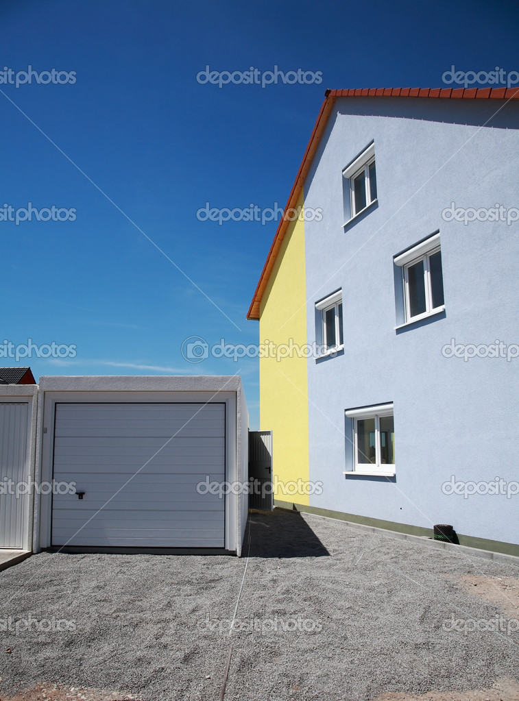 Parking area under construction by family house — Stock Photo #5169532
