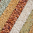 Stock Photo: Mixture of dried lentils, peas, soybeans, beans - background