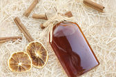 Homemade liqueur with spices — Stock Photo