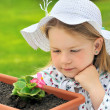 Royalty-Free Stock Photo: Little girl  - gardening