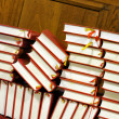 Hymnals and prayer books - stack — Stock Photo