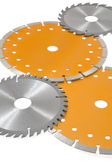 Circular saw blades isolated on white — Stock Photo