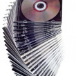 Cd dvd piled up - Stok fotoğraf