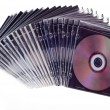 Cd dvd piled up — Stock Photo