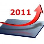 Business chart 2011 — Stock Photo