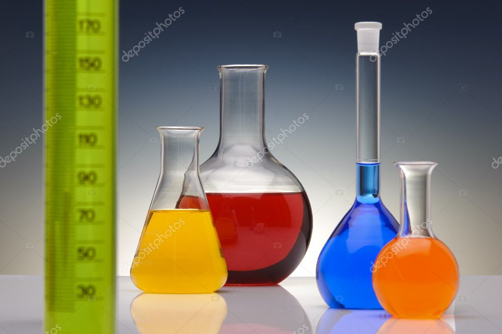 Glass in chemical laboratory — Stock Photo #5026178