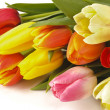 Easter bunch of tulips — Stock Photo #5080442