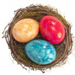 Easter nest with eggs — Stock Photo #5080458