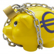 Euro piggy bank — Foto Stock