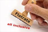 Flatrate all inclusive — Stock Photo